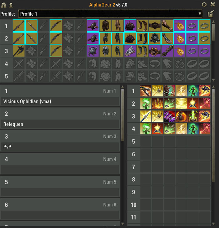 Alpha Gear ESO addon interface