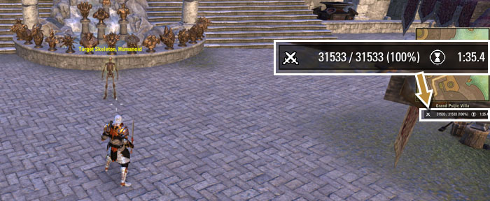 Damage Meters addon ESO HUD dps meter