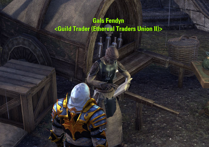 Guild trader in Mournhold ESO
