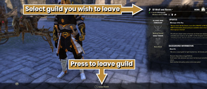 How To Leave A Guild In ESO