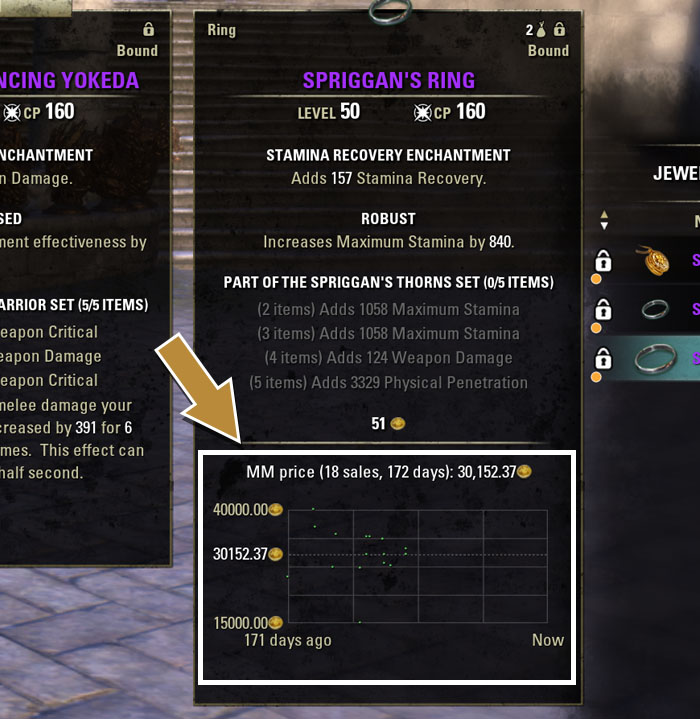 Master Merchant ESO Interface example