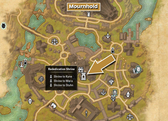 ESO Rededication Shrines Location in Mournhold