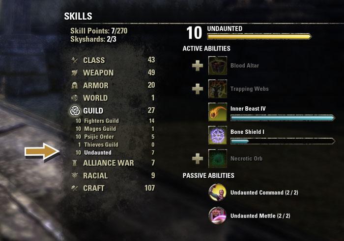 Undaunted Skill Line