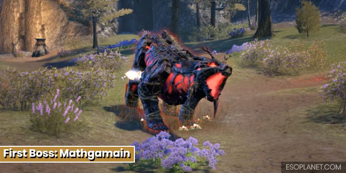 ESO Bloodroot Forge Guide First Boss Mathgamain
