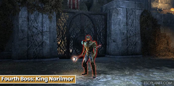ESO Depths of Malatar Dungeon Guide - Fourth Boss King Narilmor