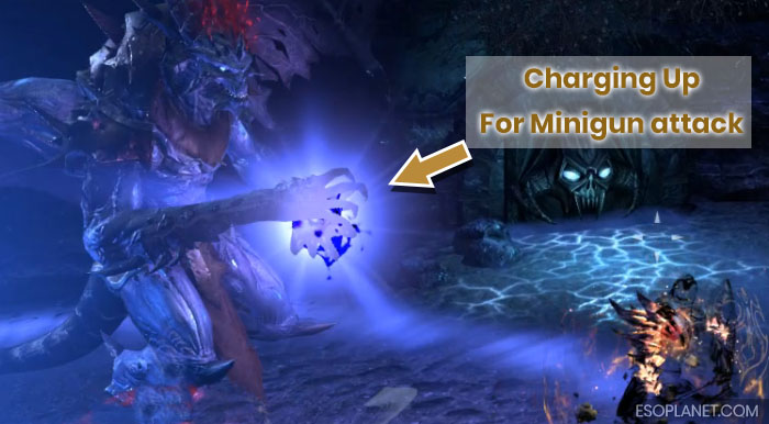 ESO Imperial City Prison Dungeon Guide Final Boss Charging Up Minigun