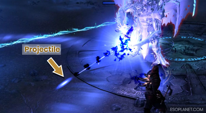 ESO Imperial City Prison Dungeon Guide Final Boss Minigun Projectile