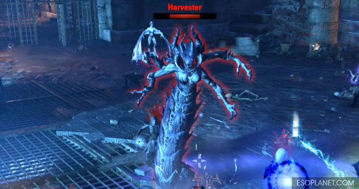 ESO Imperial City Prison Dungeon Guide First Boss Harvester