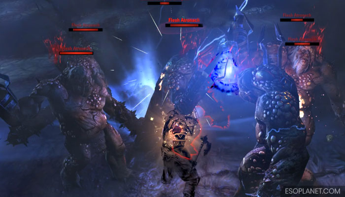 ESO Imperial City Prison Dungeon Guide Second Boss Lots of Atronachs
