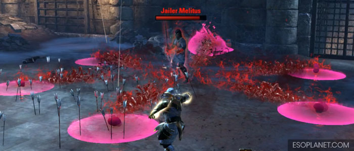 ESO Moon Hunter Keep First Boss AOE Projectiles