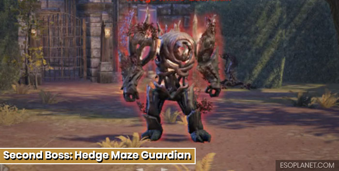 ESO Moon Hunter Keep Second Boss Hedge Maze Guardian