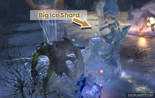 ESO Scalecaller Peak First Boss Big Ice Shards