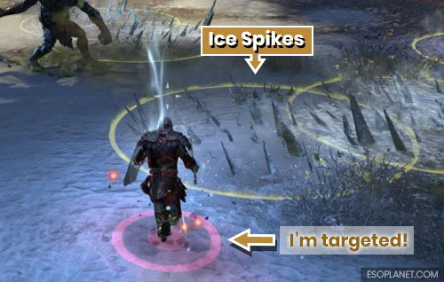 ESO Scalecaller Peak First Boss Ice Spikes