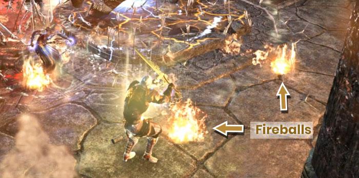 Falkreath Hold Final Boss Fireballs