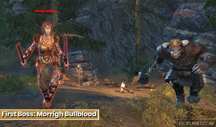 Falkreath Hold First Boss Morrigh Bullblood