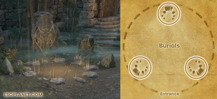 Falkreath Hold Third Boss Cernunnon Burial Tombstones Locations