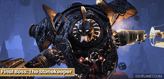 ESO Dungeon Guide Frostvault - Final Boss The Stonekeeper