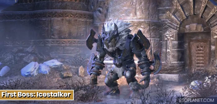 ESO Dungeon Guide Frostvault - First Boss Icestalker