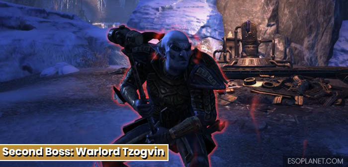 ESO Dungeon Guide Frostvault - Second Boss Warlord Tzogvin