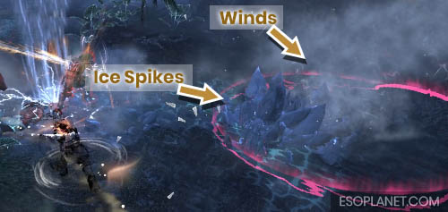 ESO Planet Dungeon Guide March of Sacrifices - Third Boss ice and wind