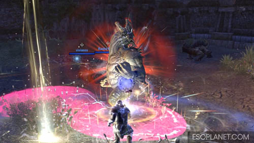 ESO Ruins of Mazzatun - Fourth Boss About to charge