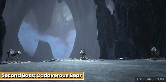 ESO Planet Dungeon Guide Fang Lair - Second Boss Cadaverous Bear